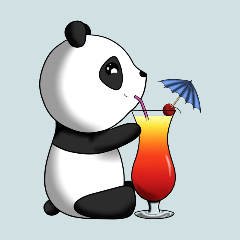 Drinking Panda Men's T-Shirt by Serferis's Shop