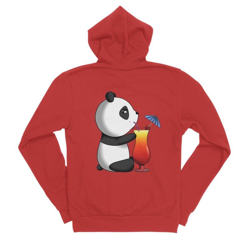 Drinking Panda Women's Zip-Up Hoody by Serferis's Shop