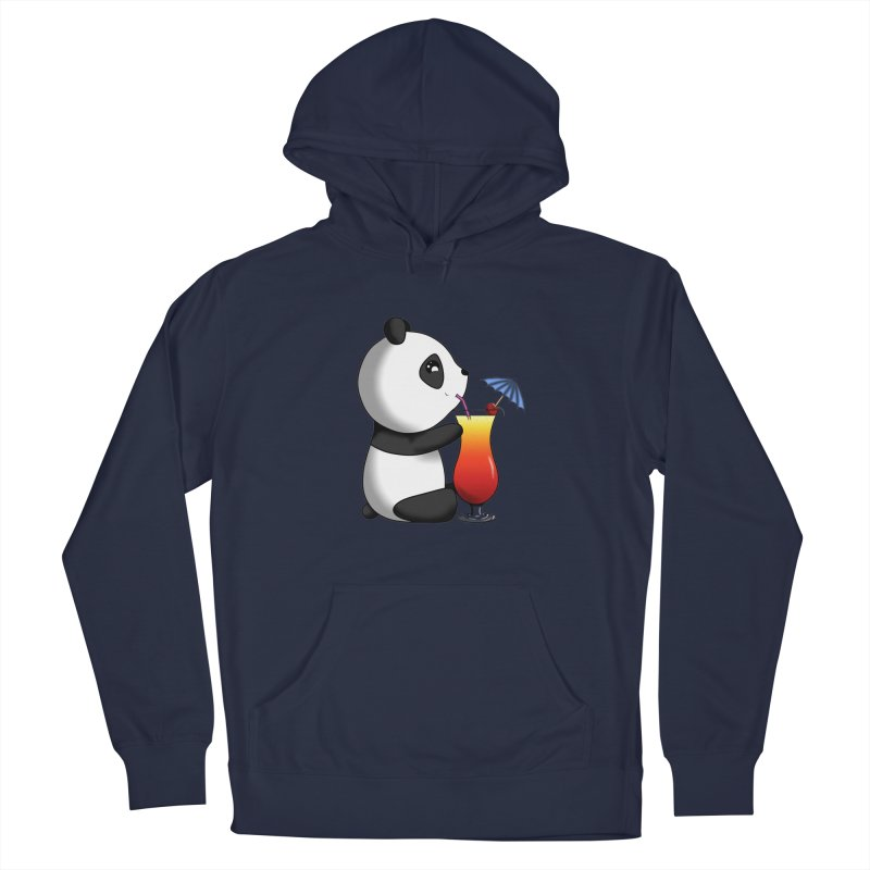 Drinking Panda Men's Pullover Hoody by Serferis's Shop