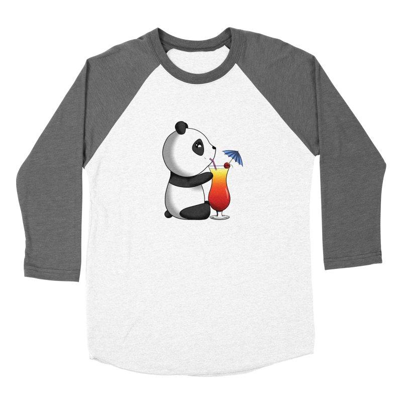 Drinking Panda Women's Longsleeve T-Shirt by Serferis's Shop