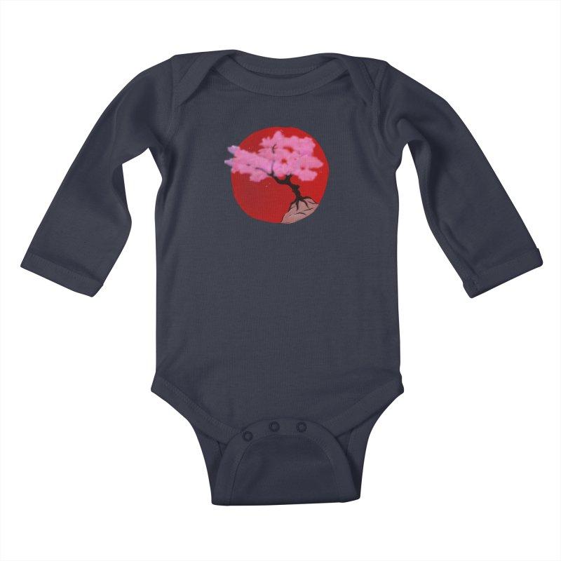 Sakura Sunrise Kids Baby Longsleeve Bodysuit by Serferis's Shop