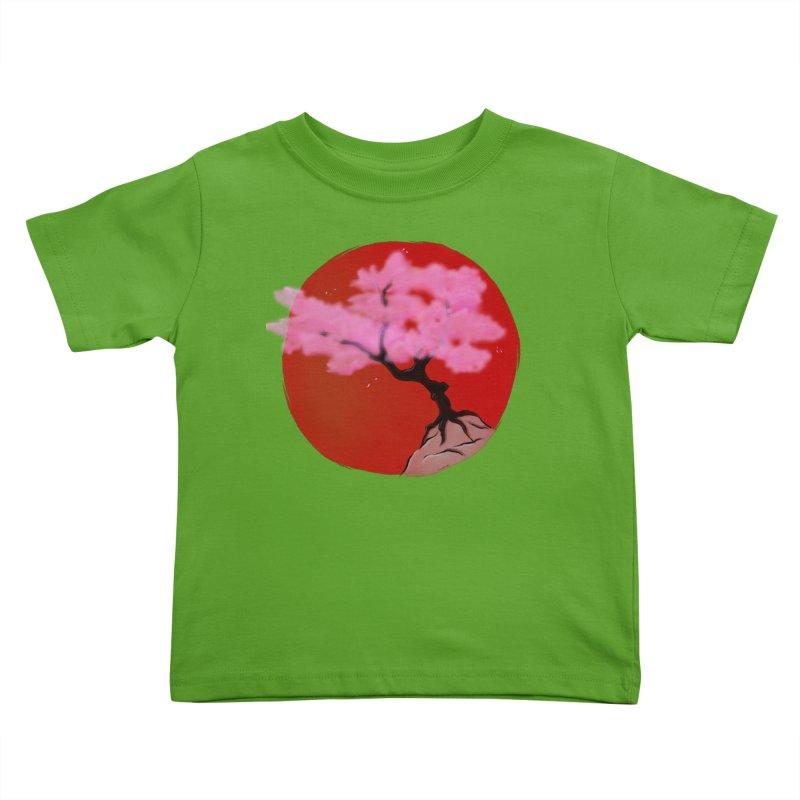 Sakura Sunrise Kids Toddler T-Shirt by Serferis's Shop