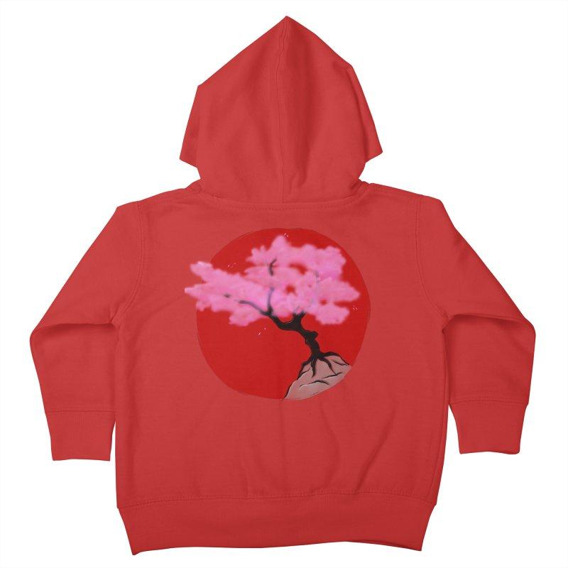 Sakura Sunrise Kids Toddler Zip-Up Hoody by Serferis's Shop