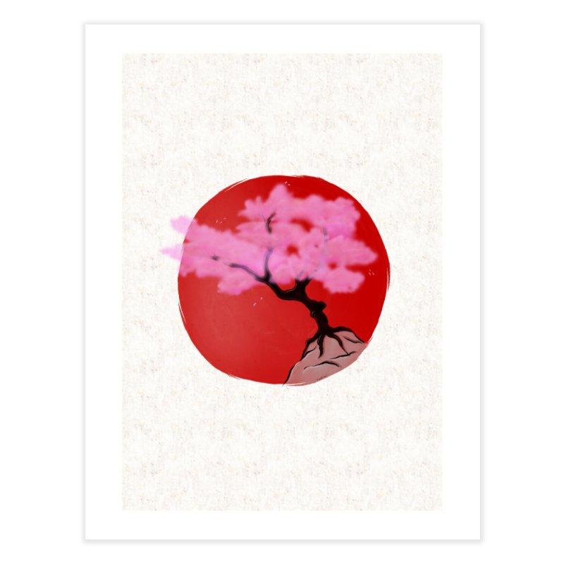 Sakura Sunrise Home Fine Art Print by Serferis's Shop