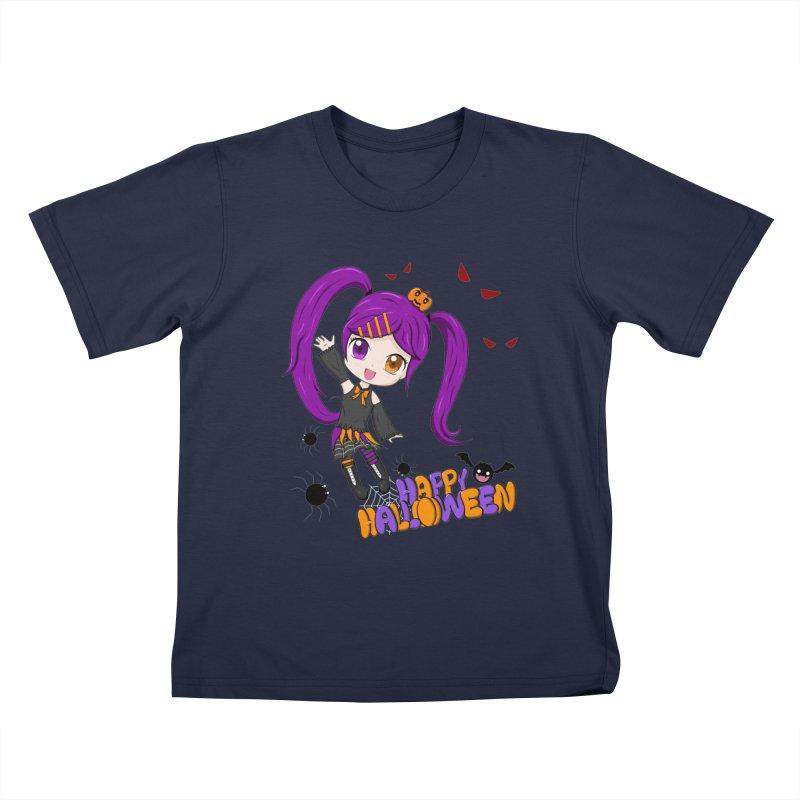 Happy Halloween Kids T-Shirt by Serferis's Shop