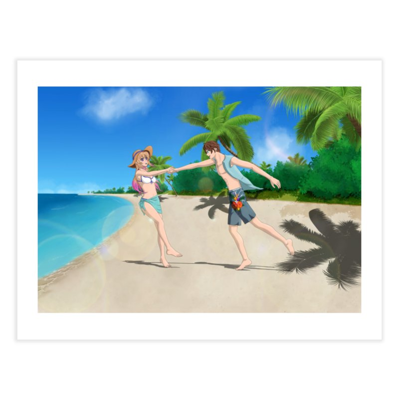 Summer Couple Home Fine Art Print by Serferis's Shop