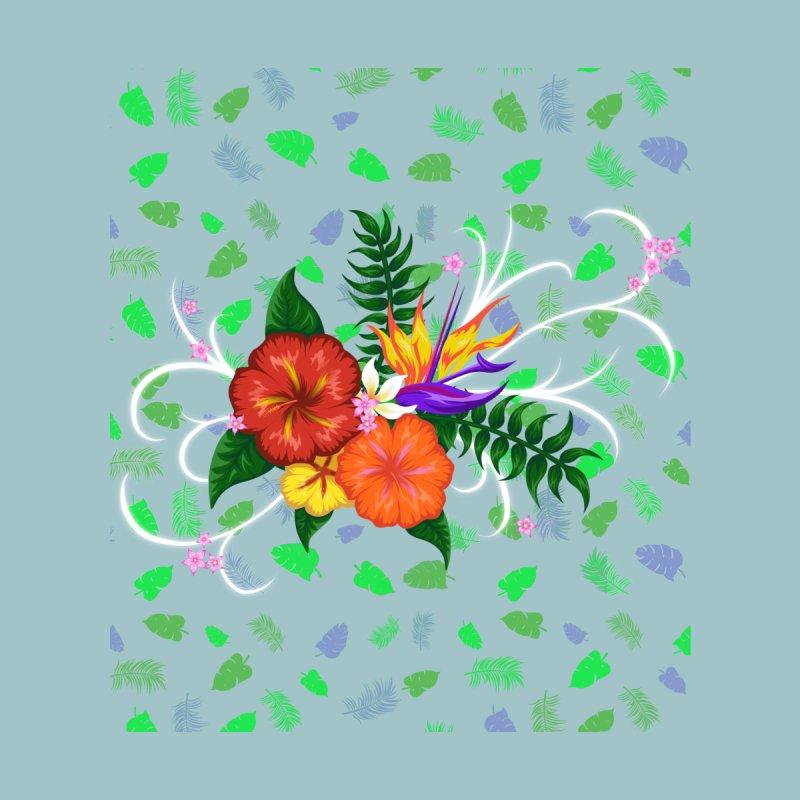 Tropical Flowers Kids Baby Zip-Up Hoody by Serferis's Shop