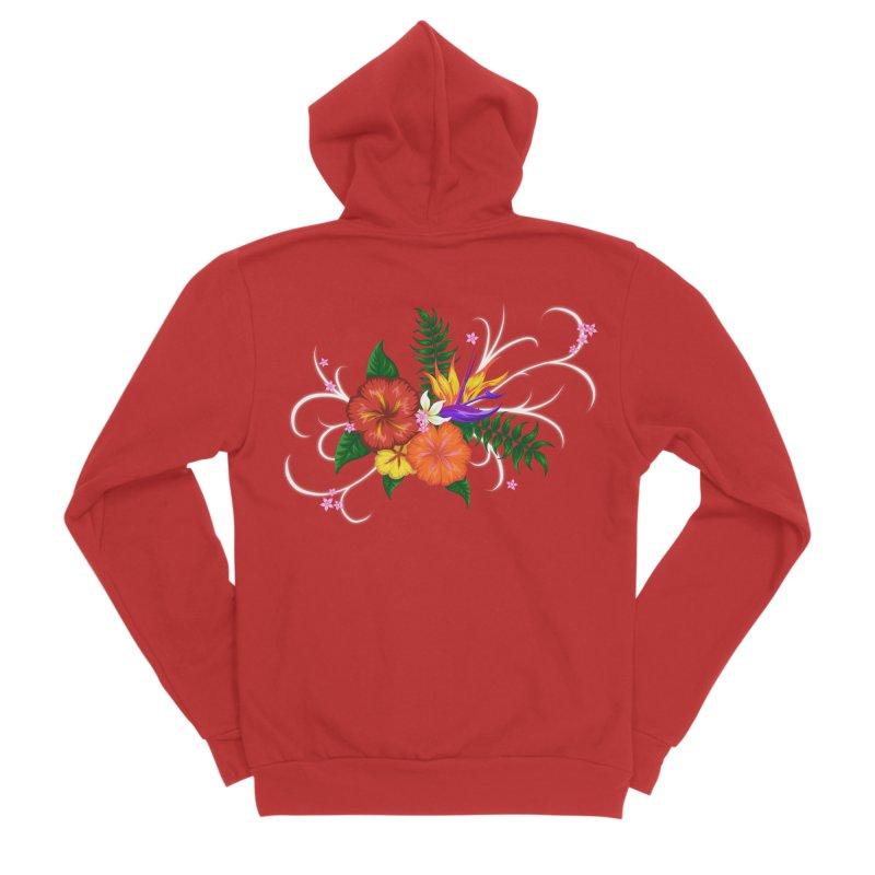 Tropical Flowers Women's Zip-Up Hoody by Serferis's Shop