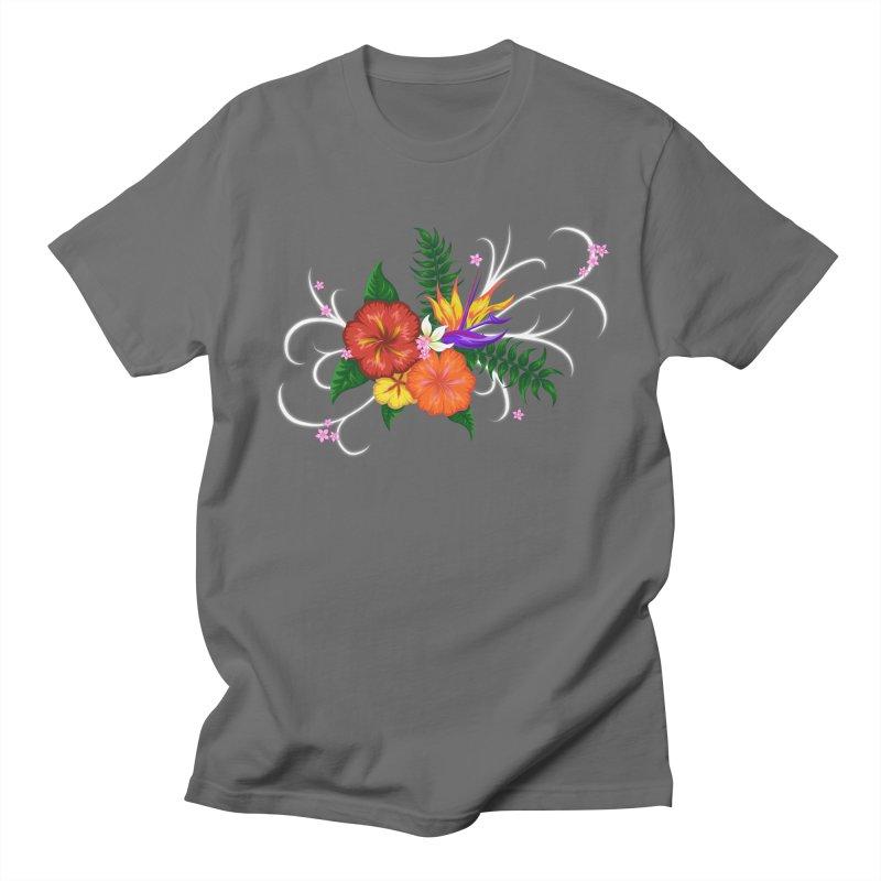 Tropical Flowers Men's T-Shirt by Serferis's Shop