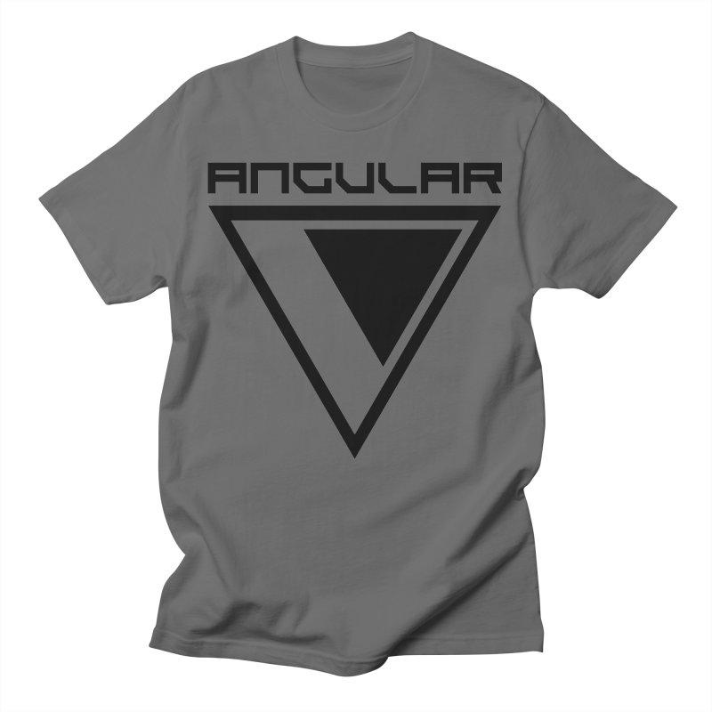 Angular Logo Black Men's T-Shirt by Sergio Seabra's Shop
