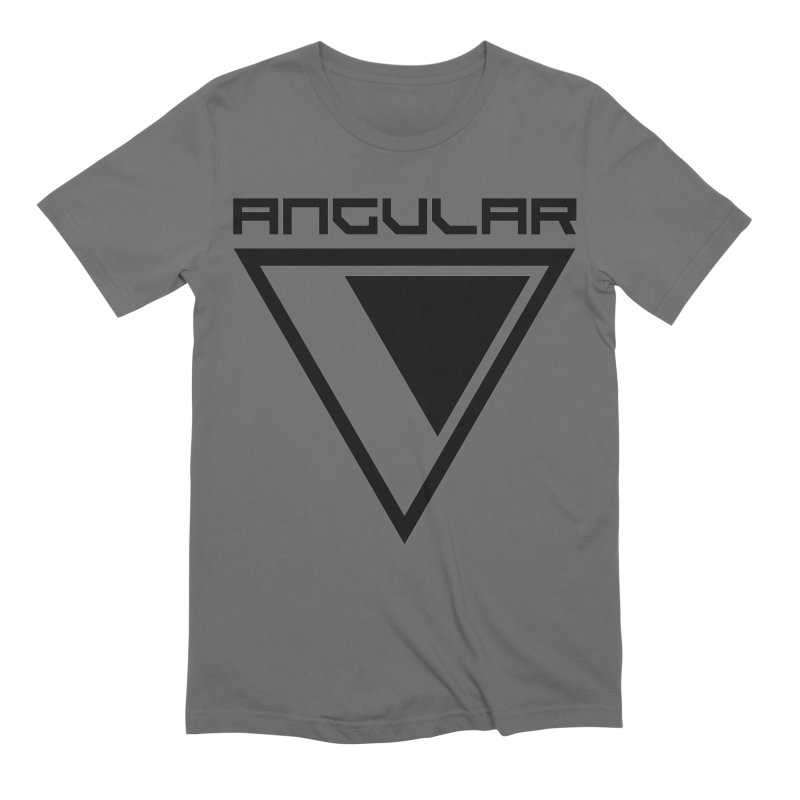 Angular Logo Black Men's T-Shirt by Sergio Seabra's Shop