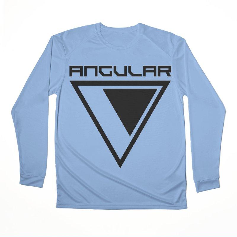 Angular Logo Black Men's Longsleeve T-Shirt by Sergio Seabra's Shop