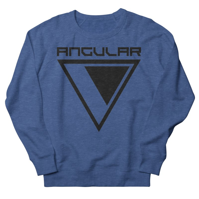 Angular Logo Black Men's Sweatshirt by Sergio Seabra's Shop