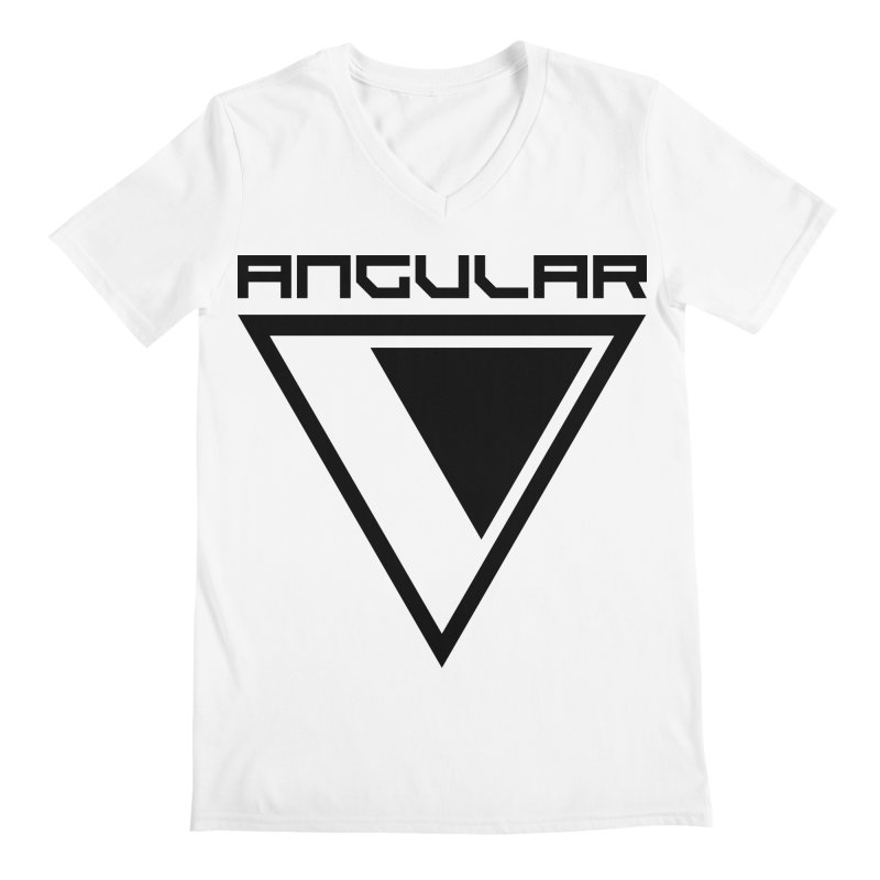 Angular Logo Black Men's V-Neck by Sergio Seabra's Shop