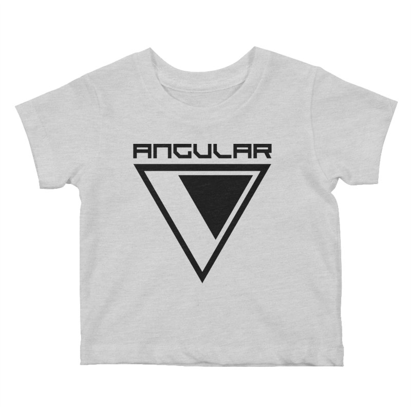 Angular Logo Black Kids Baby T-Shirt by Sergio Seabra's Shop