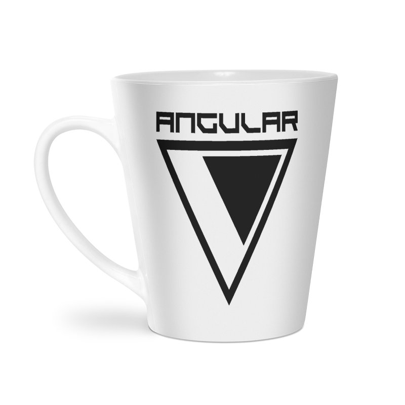 Angular Logo Black Accessories Mug by Sergio Seabra's Shop