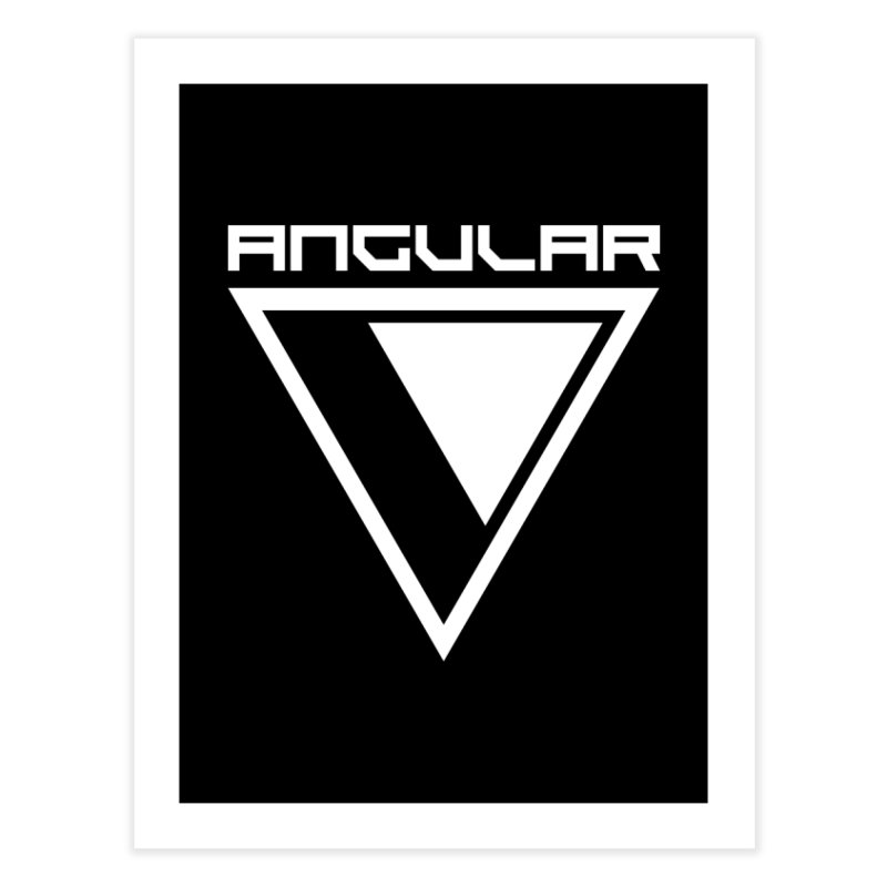 Angular Logo White Home Fine Art Print by Sergio Seabra's Shop