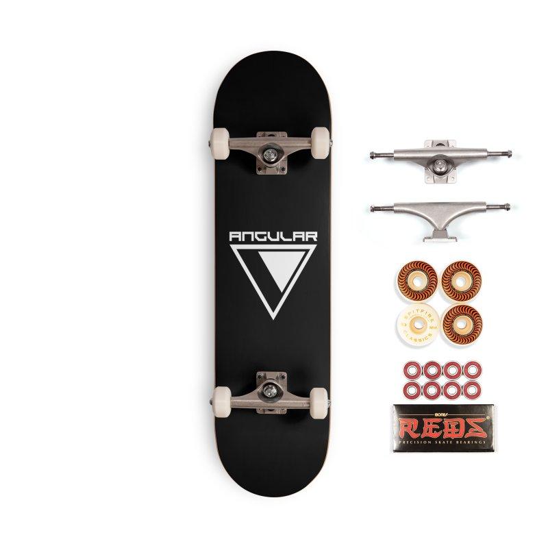 Angular Logo White Accessories Skateboard by Sergio Seabra's Shop