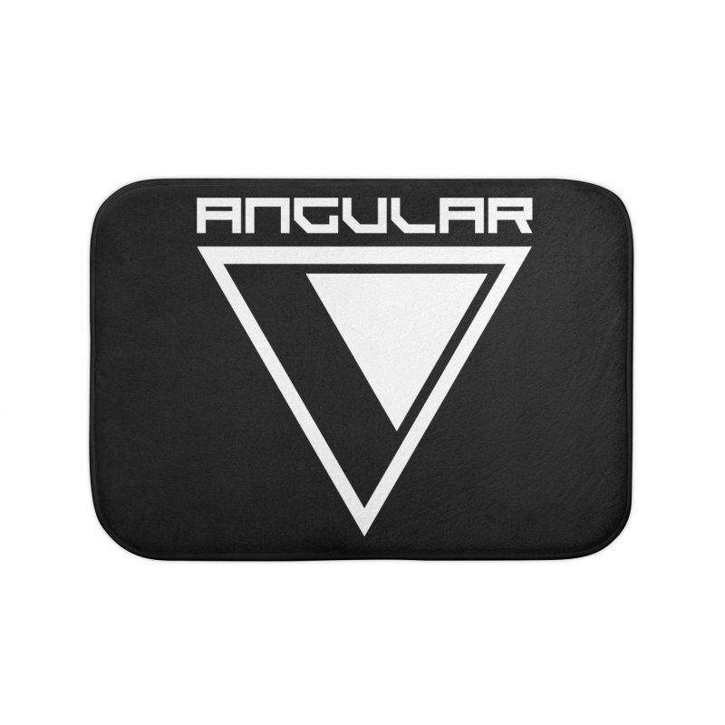 Angular Logo White Home Bath Mat by Sergio Seabra's Shop