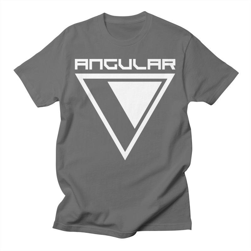 Angular Logo White Men's T-Shirt by Sergio Seabra's Shop