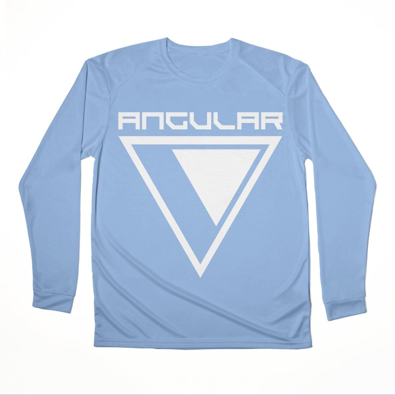 Angular Logo White Men's Longsleeve T-Shirt by Sergio Seabra's Shop