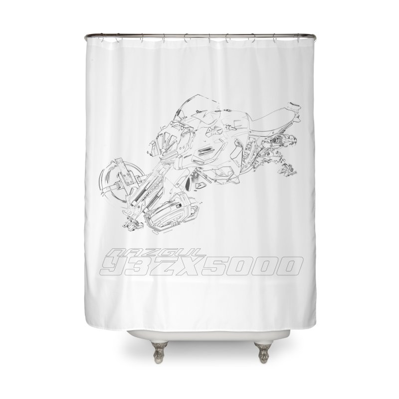 Nazgul Hoverbike Black Home Shower Curtain by Sergio Seabra's Shop