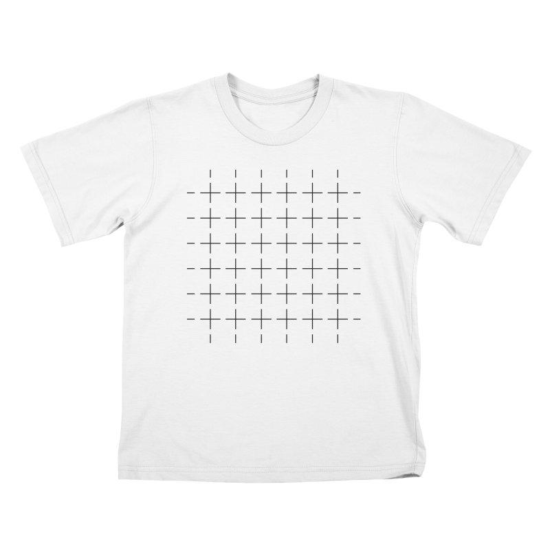 Grid Black Kids T-Shirt by Sergio Seabra's Shop