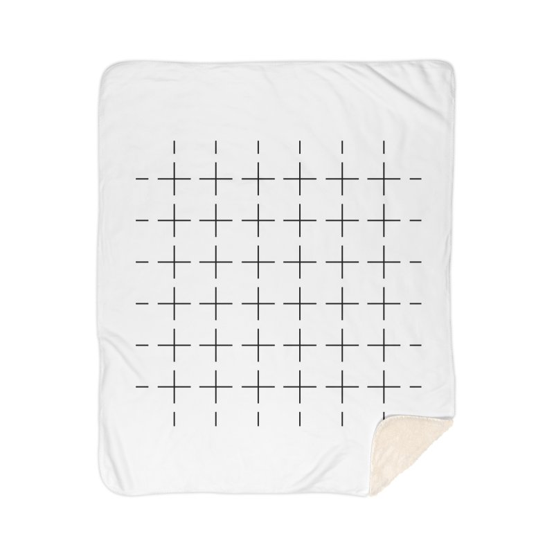 Grid Black Home Blanket by Sergio Seabra's Shop