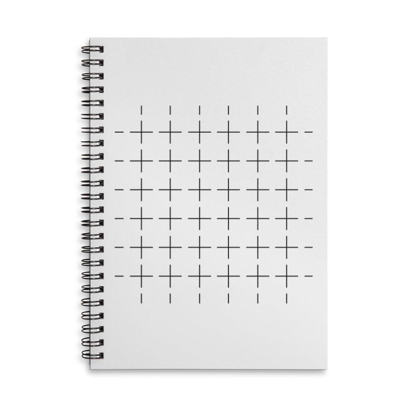 Grid Black Accessories Notebook by Sergio Seabra's Shop