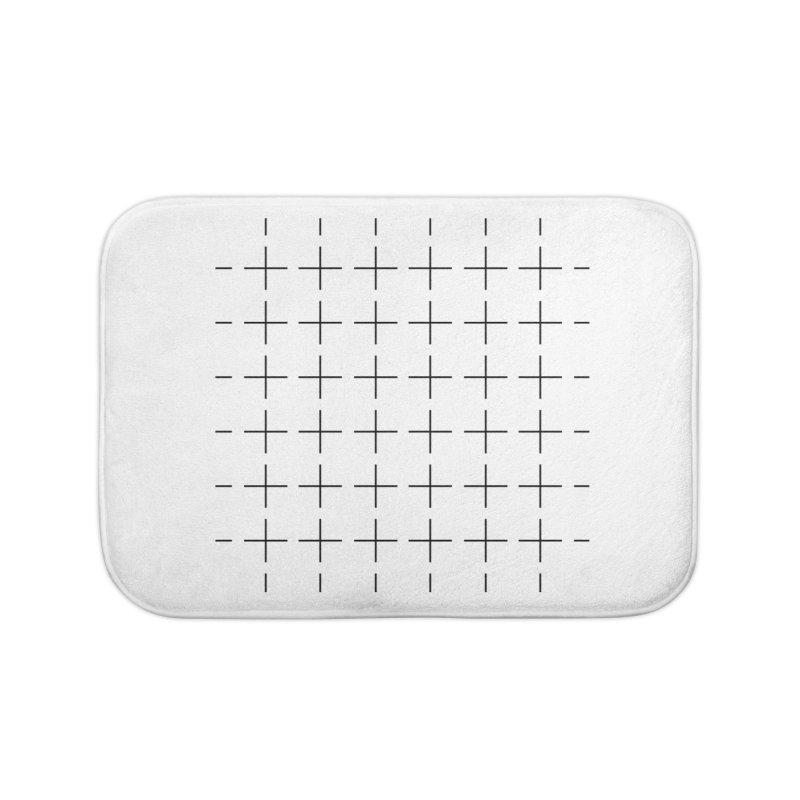 Grid Black Home Bath Mat by Sergio Seabra's Shop