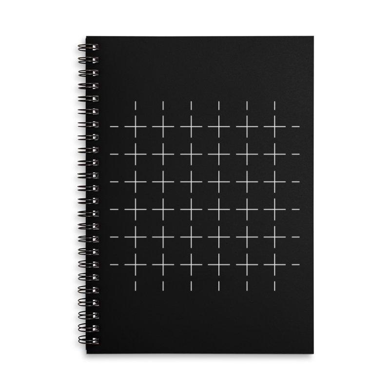 Grid White Accessories Notebook by Sergio Seabra's Shop