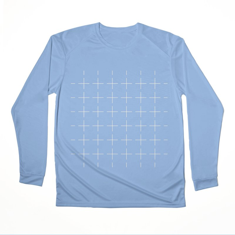 Grid White Men's Longsleeve T-Shirt by Sergio Seabra's Shop