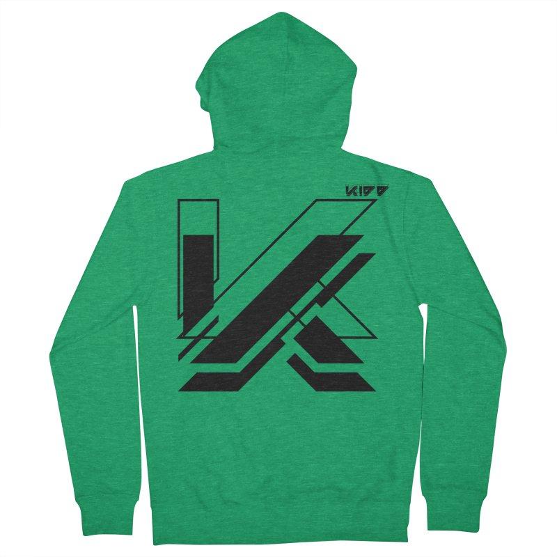 KIDD Logo Black Men's Zip-Up Hoody by Sergio Seabra's Shop