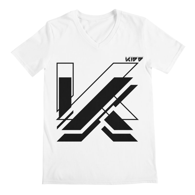 KIDD Logo Black Men's V-Neck by Sergio Seabra's Shop
