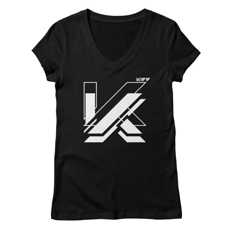 KIDD Logo White Women's V-Neck by Sergio Seabra's Shop