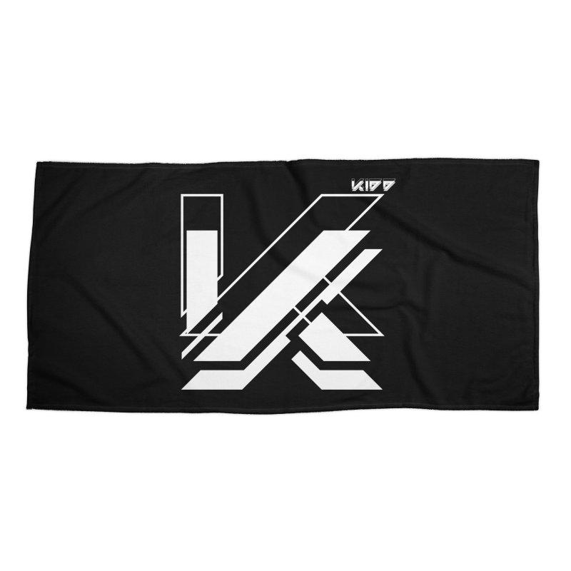KIDD Logo White Accessories Beach Towel by Sergio Seabra's Shop