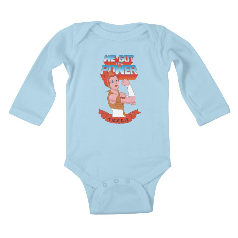 We got the power Kids Baby Longsleeve Bodysuit by seronores's Artist Shop