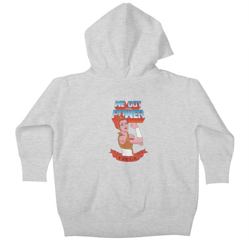 We got the power Kids Baby Zip-Up Hoody by seronores's Artist Shop