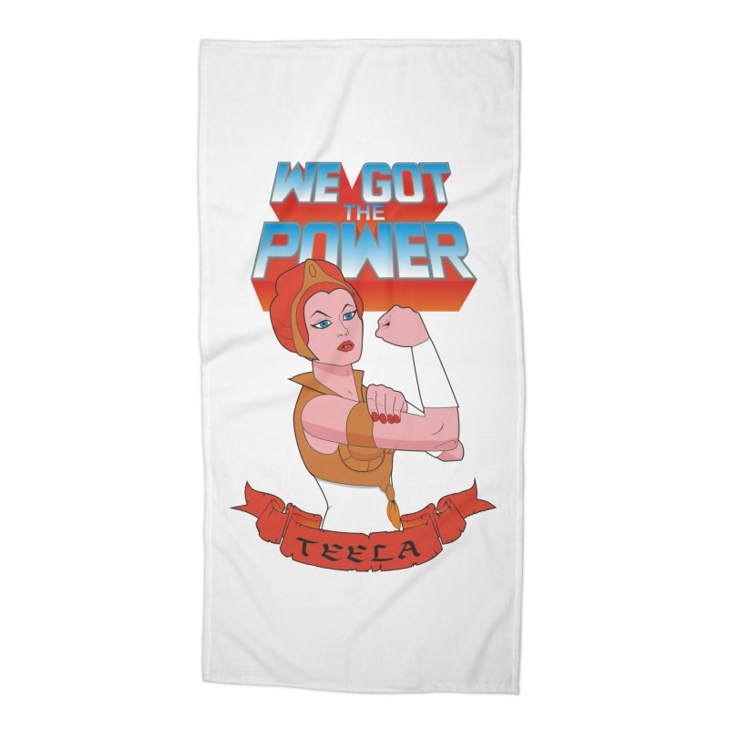 We got the power Accessories Beach Towel by seronores's Artist Shop