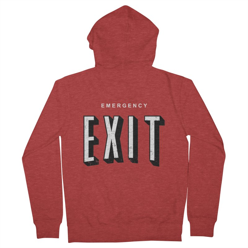 emergency exit Men's Zip-Up Hoody by seronores's Artist Shop