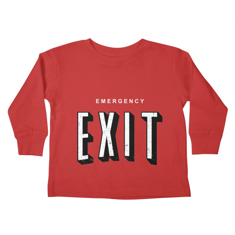 emergency exit Kids Toddler Longsleeve T-Shirt by seronores's Artist Shop