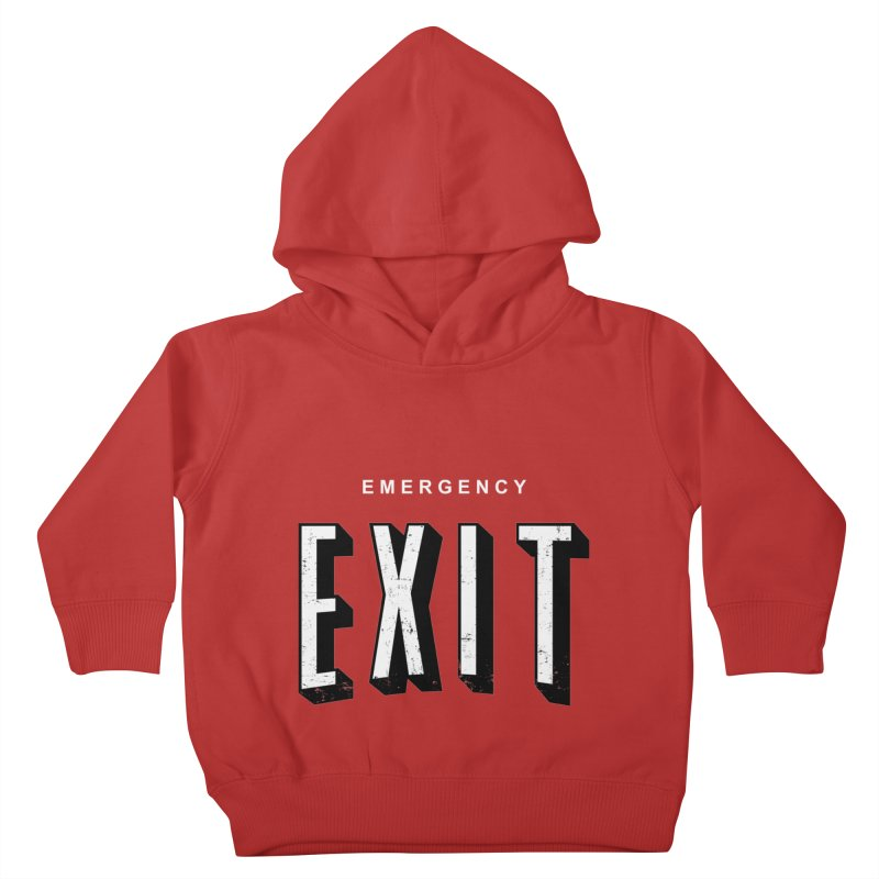 emergency exit Kids Toddler Pullover Hoody by seronores's Artist Shop