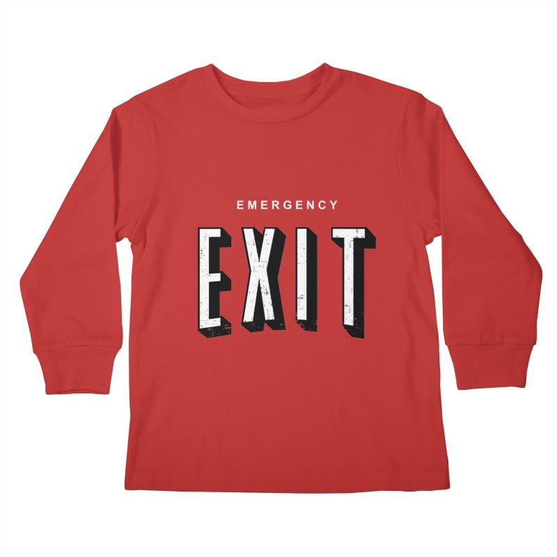emergency exit Kids Longsleeve T-Shirt by seronores's Artist Shop