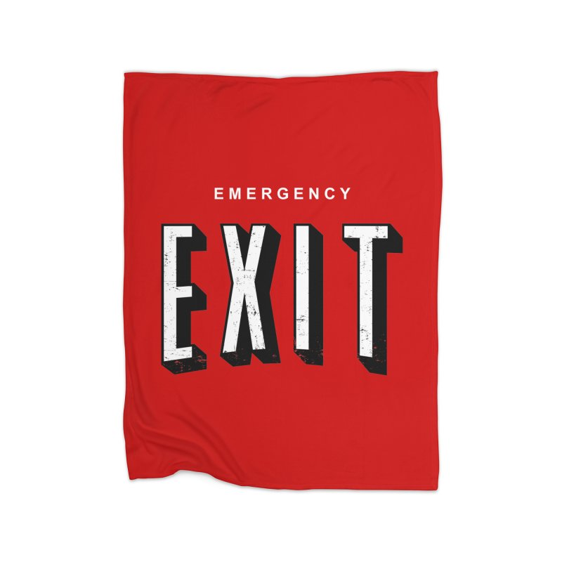 emergency exit Home Blanket by seronores's Artist Shop