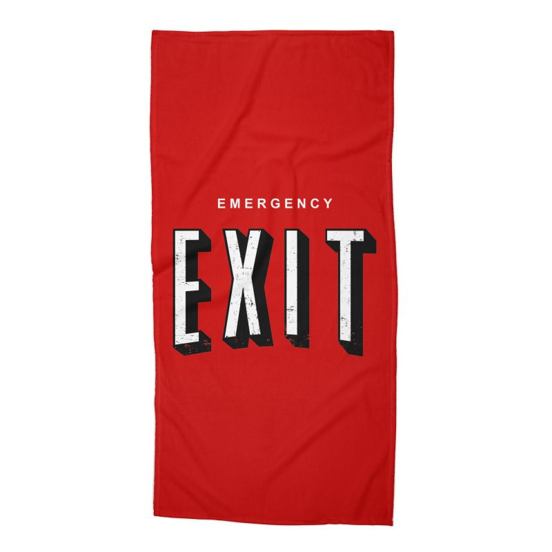 emergency exit Accessories Beach Towel by seronores's Artist Shop