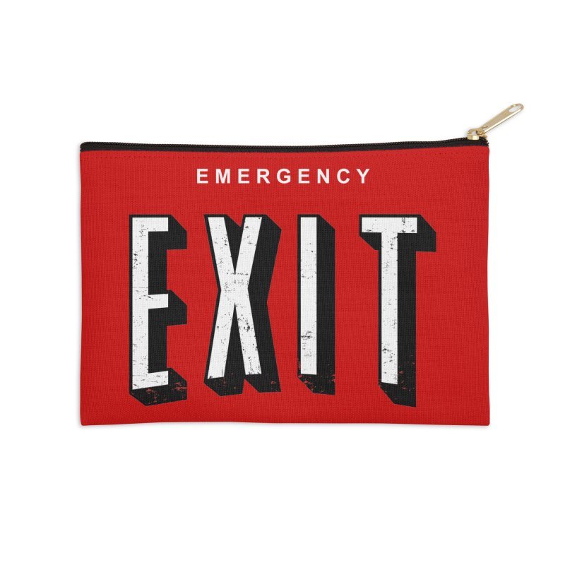 emergency exit Accessories Zip Pouch by seronores's Artist Shop