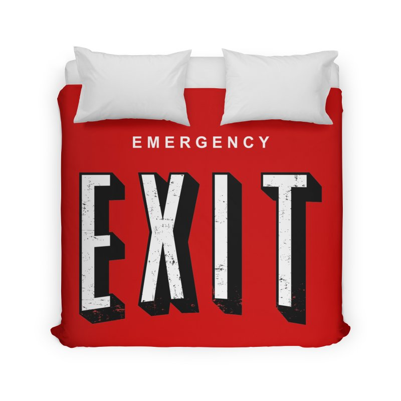 emergency exit Home Duvet by seronores's Artist Shop