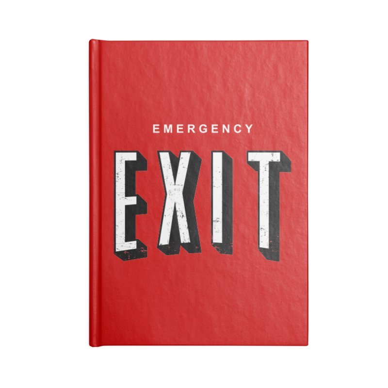 emergency exit Accessories Notebook by seronores's Artist Shop