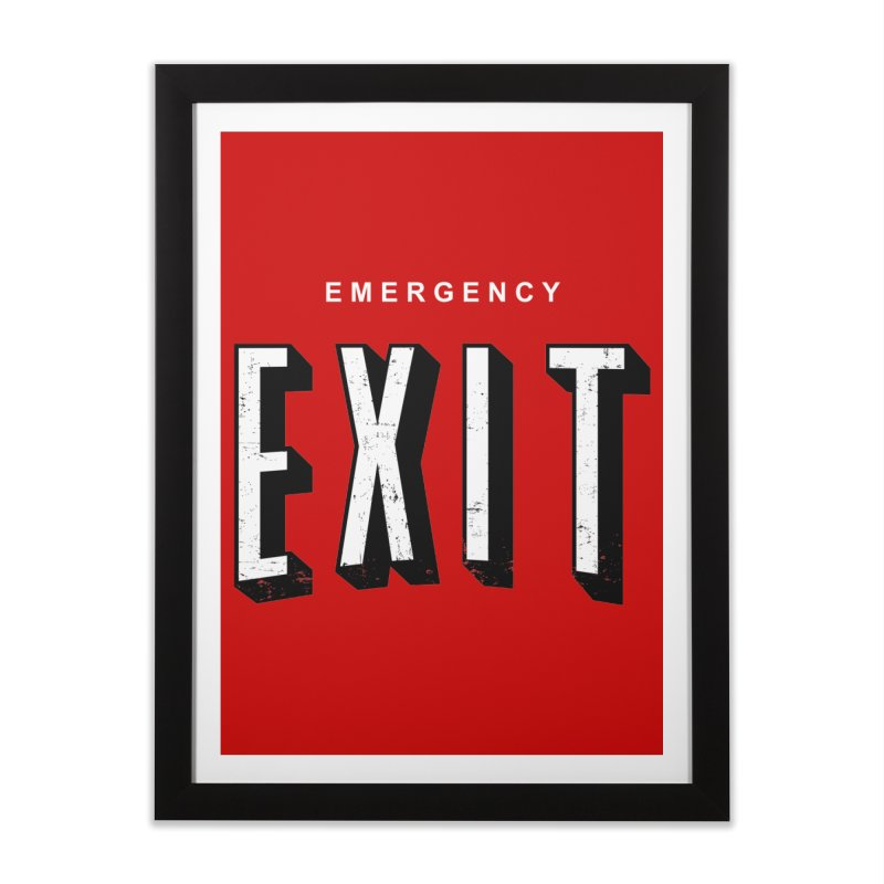 emergency exit Home Framed Fine Art Print by seronores's Artist Shop