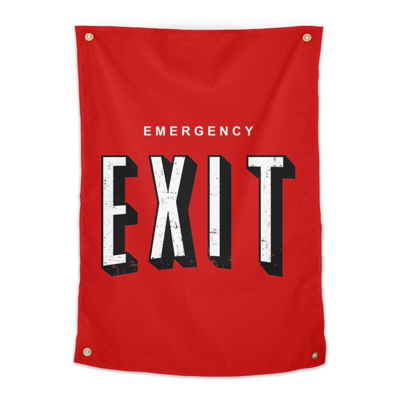 emergency exit Home Tapestry by seronores's Artist Shop